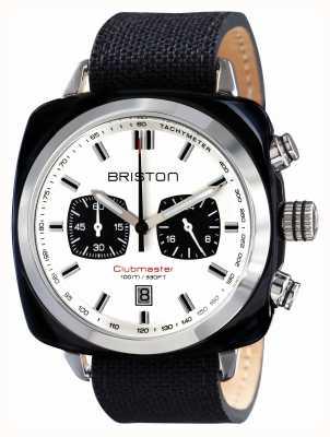 Briston Mens clubmaster sport acetato crono preto 15142.SA.BS.2.LSB