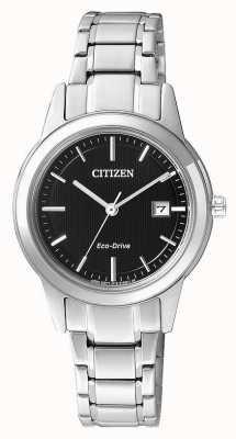 Citizen Senhoras cidadão silhueta eco-drive relógio de aço inoxidável FE1081-59E