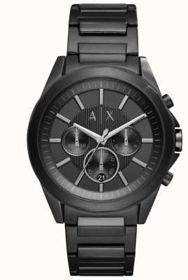 Armani Exchange Aço banhado a ferro preto para homem AX2601