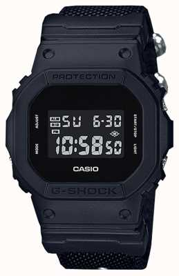 Casio Mens g-shock black out pulseira de pano DW-5600BBN-1ER