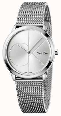 Calvin Klein Malha de aço inoxidável mínima da mulher K3M2212Z