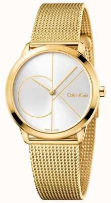 Calvin Klein Malha de ouro minimalista da mulher K3M22526