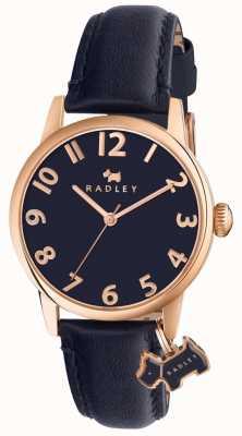 Radley Correia de couro da marinha da rua do liverpool de Womans RY2456