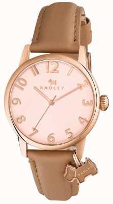 Radley Womans liverpool street luz pulseira de couro marrom RY2458