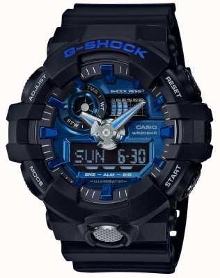 Casio Mens g-shock alarm cronógrafo azul GA-710-1A2ER