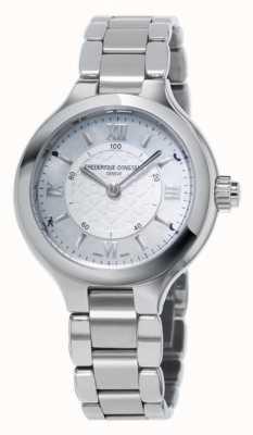 Frederique Constant Prazer da mulher horological smartwatch prata FC-281WH3ER6B