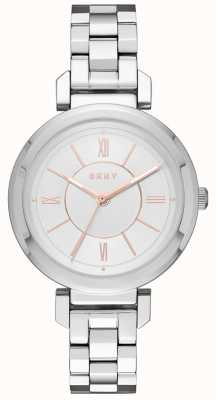 DKNY Womans ellington aço relógio de prata NY2582