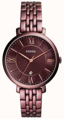Fossil Womens jacqueline banhado aço inoxidável ES4100