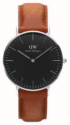 Daniel Wellington Durham preto clássico unisex 36 mm DW00100144