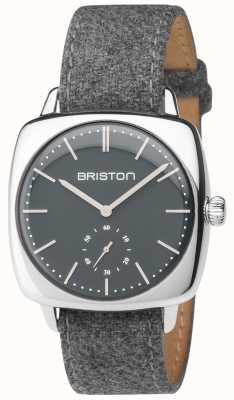 Briston Mens clubmaster vintage cinza mostrador cinza pulseira de tecido 17440.PS.V.17.LFG