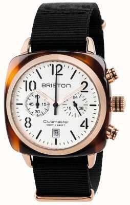 Briston Cronógrafo clássico clubmaster para homem 17140.PRA.T.2.NB