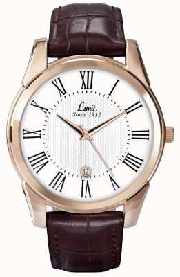 Limit Couro de relógio de limite de Mens 5453.01
