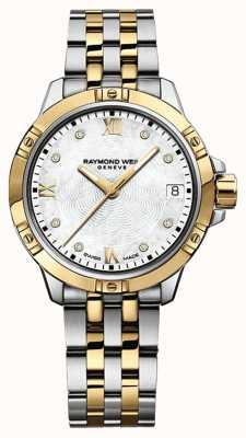Raymond Weil Relógio de tango da mulher | cinta de aço inoxidável | mostrador branco | 5960-STP-00995