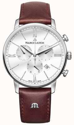 Maurice Lacroix Eliros mens couro marrom cronógrafo EL1098-SS001-112-1