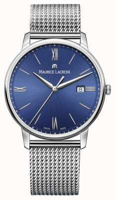 Maurice Lacroix Mens eliros pulseira malha cinta azul EL1118-SS002-410-1