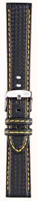 Morellato Correia apenas - biking techno preto / amarelo 20mm A01U3586977897CR20