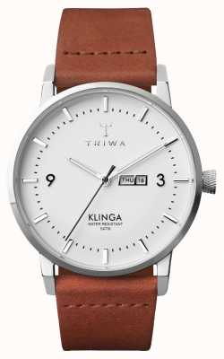 Triwa Mens neve klinga marrom clássico KLST109-CL010212