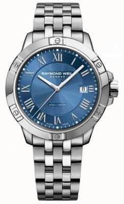 Raymond Weil Mens tango aço mostrador azul prata / azul 8160-ST-00508