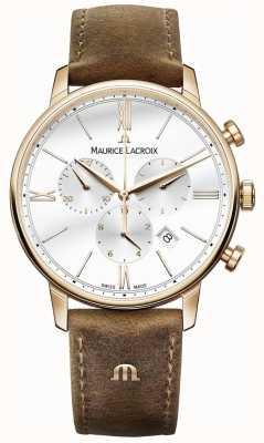 Maurice Lacroix Mens eliros cronógrafo pulseira de couro de novilho marrom EL1098-PVP01-113-1