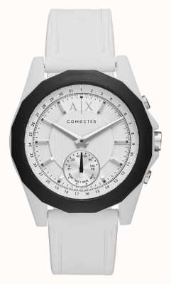 Armani Exchange Pulseira de silicone branca de relógio inteligente conectada AXT1000