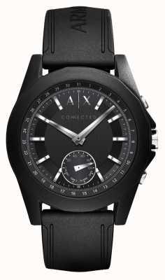 Armani Exchange Pulseira de silicone preta de relógio inteligente conectada AXT1001