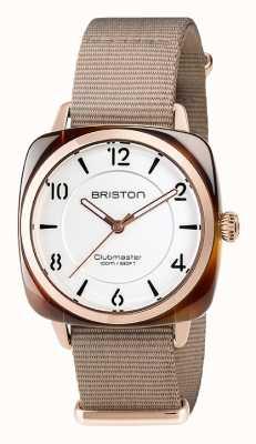 Briston Unissex clubmaster chique acetato bege pvd ouro rosa 17536.PRA.T.2.NT