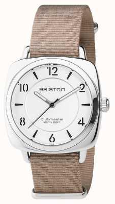 Briston Unisex clubmaster chique aço bege com pulseira nato 17536.S.L.2.NT