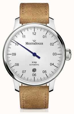 MeisterSinger Mens clássico não. 3 opalina-prata automática de 40 mm DM901