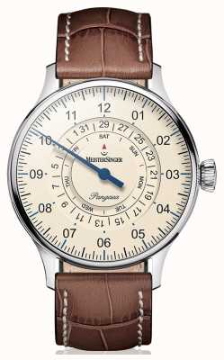 MeisterSinger Mens clássico mais data do dia pangea PDD903