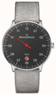 MeisterSinger Mens forma e estilo neo além de preto automático NE402