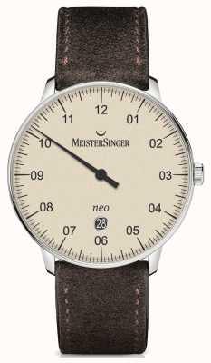 MeisterSinger Mens forma e estilo neo além de marfim automático NE403