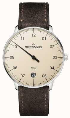 MeisterSinger Mens forma e estilo neo marfim automático NE903N