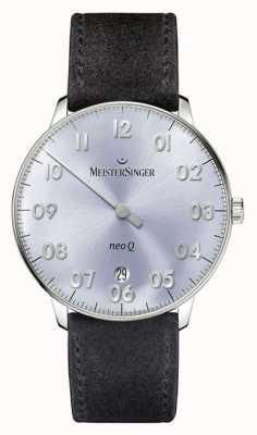 MeisterSinger Mens forma e estilo neo q quarz sunburst céu azul NQ908N