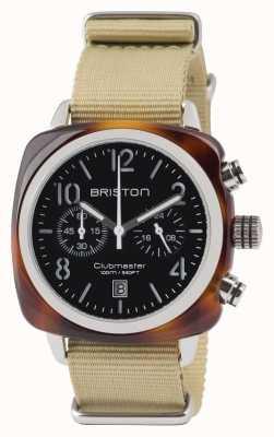 Briston Acordeão clássico Clubmaster - cronógrafo tartaruga blac 13140.SA.T.1.NK