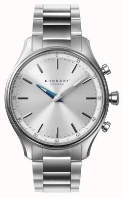 Kronaby Smartwatch de aço inoxidável do bracelete do bluetooth do sekel de 38mm A1000-0556
