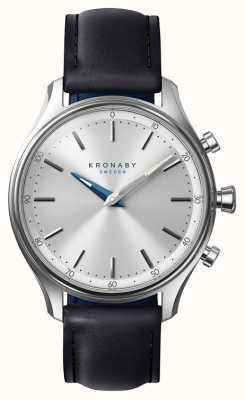 Kronaby 38mm sekel bluetooth pulseira de couro preto a1000-0657 S0657/1