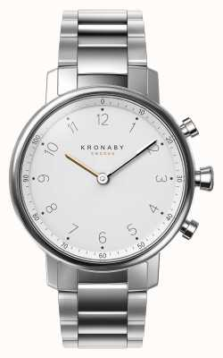 Kronaby Smartwatch de aço inoxidável do bracelete do bluetooth do nord de 38mm A1000-0710
