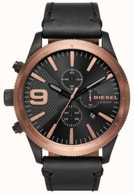 Diesel Gents grossa chronos rosa ouro / preto relógio DZ4445