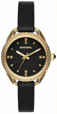 Diesel Senhoras shawty preto e relógio de ouro DZ5547