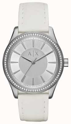 Armani Exchange Senhoras nicolette relógio pulseira branca AX5445