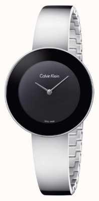 Calvin Klein Elegante chique pulseira de aço inoxidável preto K7N23C41