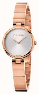 Calvin Klein Pvd autêntico da mulher banhado a pulseira de ouro rosa K8G23646