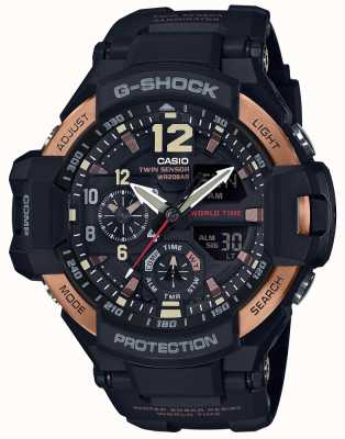Casio Mens g-choque aviador gravidade mestre relógio ga-1100rg-1adr GA-1100RG-1AER
