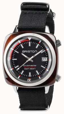Briston Unisex clubmaster diver tartaruga concha acetato auto preto 17642.SA.TD.1.NB