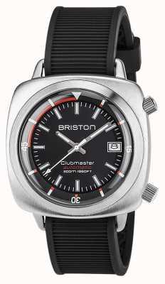 Briston Unisex clubmaster diver escovado aço auto blackmen 17642.S.D.1.RB