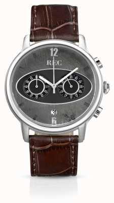 REC Mark 1 m1 pulseira de couro marrom cronógrafo M1