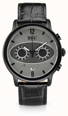 REC Mark 1 m3 cronógrafo pulseira de couro preto M3