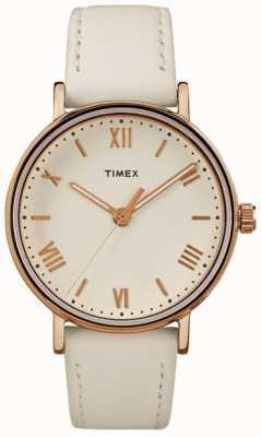 Timex Mulher southview 37mm dial creme rosa caso tom de ouro TW2R28300