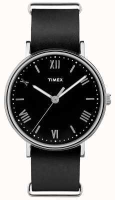 Timex Mens southview 41mm preto mostrador preto pulseira TW2R28600