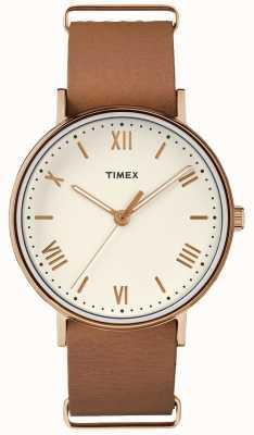 Timex Unisex southview 41mm dial creme rosa caso tom de ouro TW2R28800